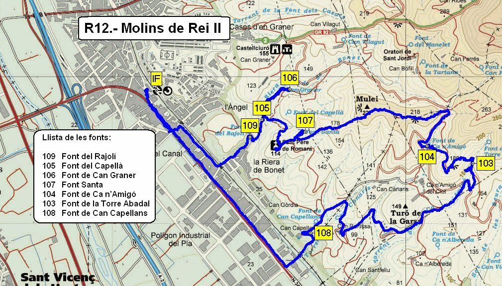 Mapes Excursions Fonts De Collserola