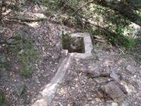 Imatge de la conducció d'aigua antiga.