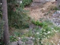 Imatge de la zona enrunada on està la font.
