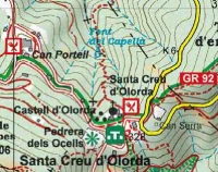 Fragment del mapa Collserola Parc Natural. Editorial Alpina, any 2011.