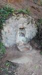 Imatge del frontal, la pica i la plataforma de ciment.