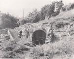 Imatge de 1967 de l'entrada a la font.