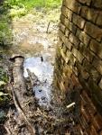 12.06.2018.- Sortida d'aigua que va a parar a l'embassament.