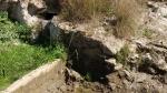 15.03.2019. Imatge del forat de la mina i del tub.