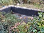 01.12.2020. Una altra imatge de la bassa recentment impermeabilitzada.