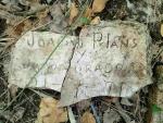 19.07.2021. Inscripció trobada al terra de la caseta. Imatge cedida per Estrella B.