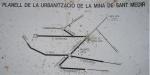 30.01.2009. Plànol de la urbanització de la Mina de Sant Medir