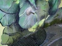 22.01.2012.- Imatge del tub i del reixat de la pica.
