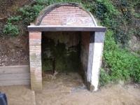 08.10.2005. Imatge del raig d'aigua i la pica.