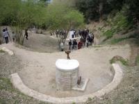 Imatge del dia de la celebració de la font recuperada. 24 de març de 2009.
