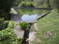 9.04.2006.- Imatge de l'altre embassament on va a parar l'aigua.