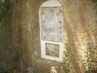 """29.03.2009. Imatge del decorat de mosaic. """"Lliurament de Moisès al riu Nil."""