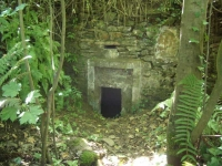 Imatge de l'entrada de la mina.