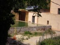 26.07.2009. Imatge de la bassa al costat de la masia.