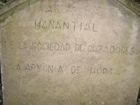 10.01.2010. Imatge de la inscripció que hi ha a la paret de la caseta.