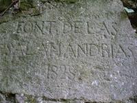 Imatge de la inscripció de la paret.
