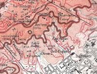 Fragment del mapa Gran Barcelona. X. Coll. Editorial Alpina, any 1985, on figura la font.