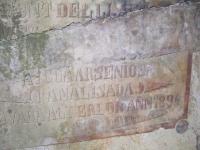 15.10.2011.- Imatge de la inscripció de la paret.
