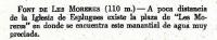 """Fragment del llibre de X. Coll, """"Fuentes en las Montañas de Barcelona"""". Editorial Alpina, any 1963."""